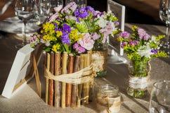 Table de mariage de pays Photographie stock