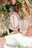 Table de mariage ou d'événement photographie stock libre de droits