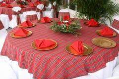 Table de Noël Photo stock