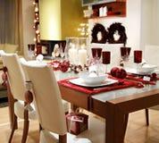 Table de Noël Images libres de droits