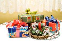 Table de Noël Photographie stock libre de droits