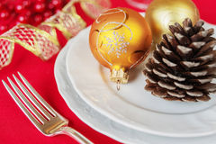 Table de Noël Image stock