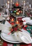 Table de Noël de portion de fragment photos stock