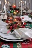 Table de Noël de portion de fragment image stock