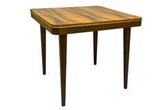 Table de noix de vintage dans le style des années '60, d'isolement sur le blanc Photographie stock