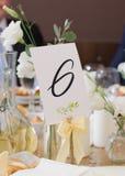 Table de partie ou de mariage Images libres de droits