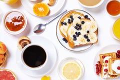 Table de petit déjeuner Vue supérieure Photo stock