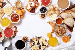 Table de petit déjeuner Vue supérieure Photographie stock