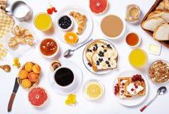 Table de petit déjeuner Vue supérieure Image libre de droits