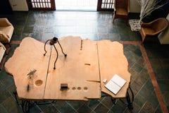 Table de pierre de lobby d'entrée Image libre de droits