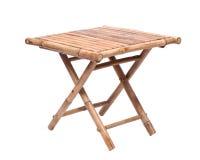 Table de pliage en bambou naturelle photographie stock libre de droits
