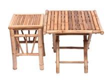 Table de pliage en bambou naturelle images stock
