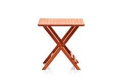 Table de pliage en bois photographie stock libre de droits