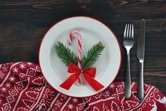 Table de portion de Noël image libre de droits