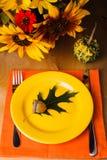Table de portion de thanksgiving photographie stock libre de droits