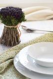 Table de portion pour un dîner Photographie stock libre de droits