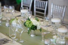 Table de réception de mariage photo libre de droits