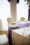Table de réception de mariage Images stock