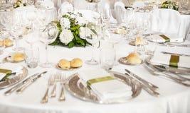 Table de réception de mariage Photographie stock libre de droits