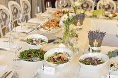 Table de réception de mariage image stock