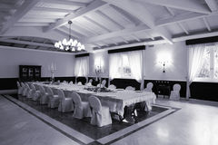 Table de restaurant photo stock