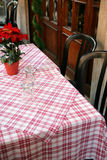 Table de restaurant Photos stock
