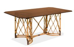 Table de rotin avec un de table photo libre de droits