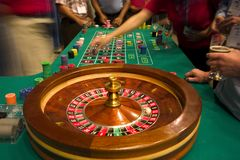Table de roulette Photographie stock