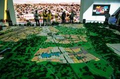 Table de sable de l'urbanisme Image stock