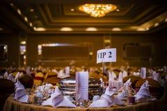 Table de salle à manger élégante photo stock