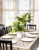 Table de salle à manger décorée de Noël Photo libre de droits