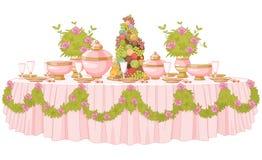 Table de salle à manger dans princesse Palace Image stock