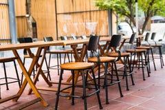 Table de salle à manger et chaise Images stock