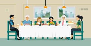 Table de salle à manger de famille Image stock