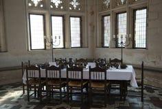 Table de salle à manger médiévale Photographie stock libre de droits