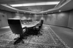 Table de salle du conseil d'administration de conférence image libre de droits