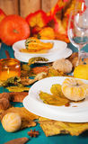 Table de thanksgiving Photographie stock libre de droits