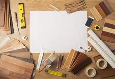 Table de travail de DIY avec l'espace de copie Photographie stock libre de droits