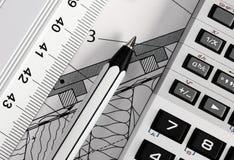Table de travail de l'ingénieur Image stock
