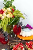 Autumnal table Stock Images