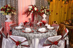 Table Decorated for Special Event Royalty Free Stock Image