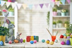 Table decorating for holiday Stock Image