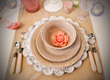 Table decoration Stock Photos