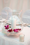 Table decoration. For a romantic or a wedding dinner Royalty Free Stock Photography