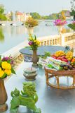 Table decoration in Bang Pa In palace ayutthaya thailand Stock Images