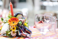 Table decoration for ceremony Royalty Free Stock Photo
