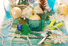 Table decoration for christmas Royalty Free Stock Images