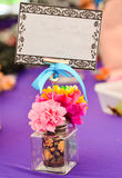 Table decoration with copy space Stock Photos