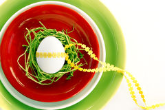 Table decoration for easter Stock Photos
