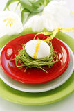 Table decoration for easter Stock Photo